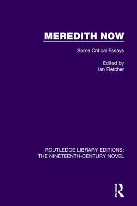 Meredith Now: Some Critical Essays, 1st Edition (Paperback) book cover