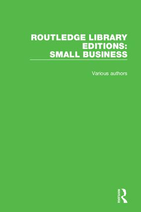 Routledge Library Editions: Small Business book cover