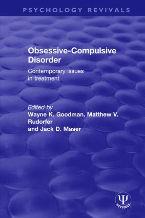 Obsessive-Compulsive Disorder: Contemporary Issues in Treatment book cover