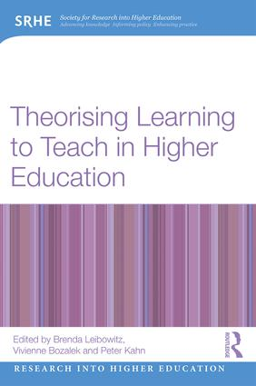 Theorising Learning to Teach in Higher Education book cover