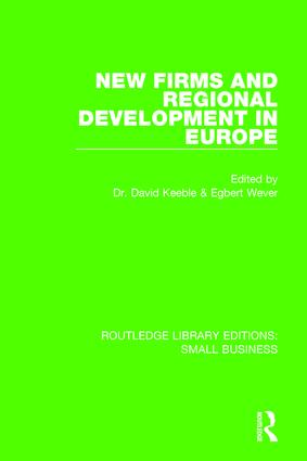 New Firms and Regional Development in Europe: 1st Edition (Paperback) book cover