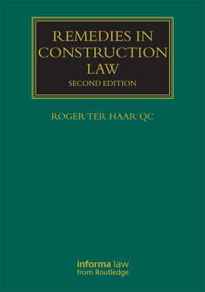 Remedies in Construction Law book cover