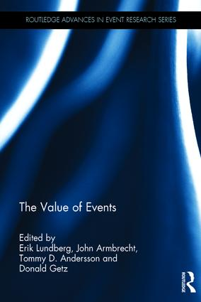 The Value of Events: 1st Edition (Hardback) book cover
