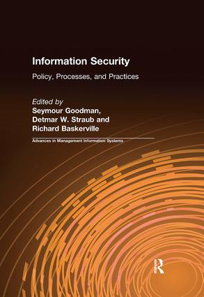 Information Security: Policy, Processes, and Practices, 1st Edition (Paperback) book cover
