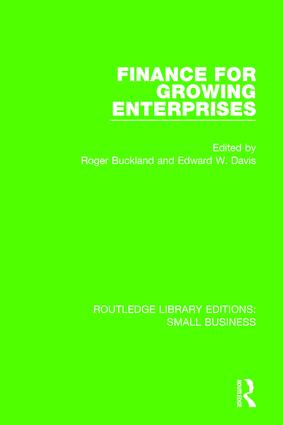 Finance for Growing Enterprises book cover