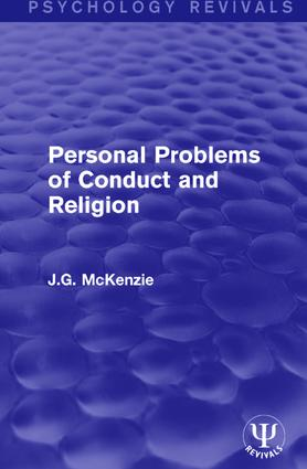 Personal Problems of Conduct and Religion: 1st Edition (Hardback) book cover