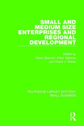 Small and Medium Size Enterprises and Regional Development