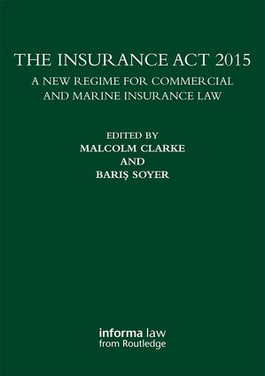 The Insurance Act 2015 (Hardback) book cover