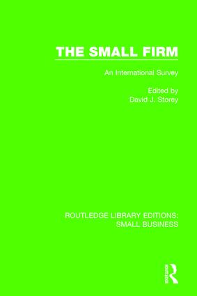 The Small Firm: An International Survey, 1st Edition (Paperback) book cover