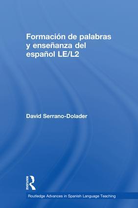 Formación de palabras y enseñanza del español LE/L2 book cover