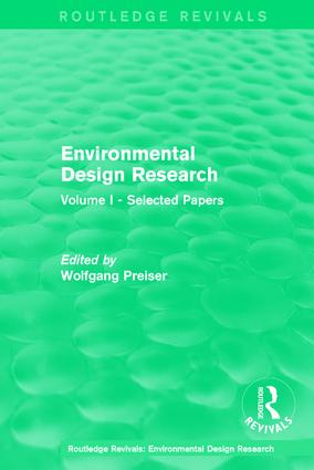Environmental Design Research: Volume one selected papers, 1st Edition (Hardback) book cover