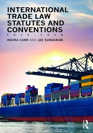 International Trade Law Statutes and Conventions 2016-2018 book cover