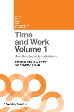 Time and Work, Volume 1: How time impacts individuals (Paperback) book cover