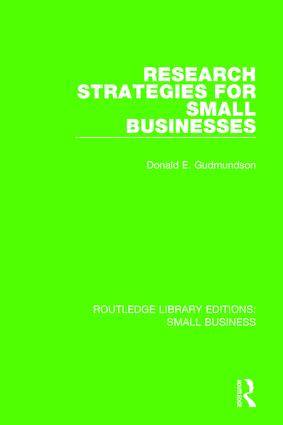 Research Strategies for Small Businesses: 1st Edition (Paperback) book cover