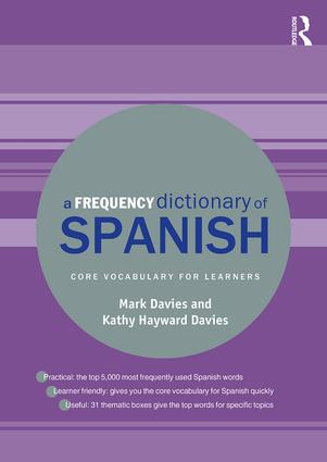 A Frequency Dictionary of Spanish: Core Vocabulary for Learners book cover