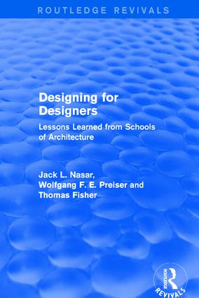 Designing for Designers (Routledge Revivals): Lessons Learned from Schools of Architecture book cover