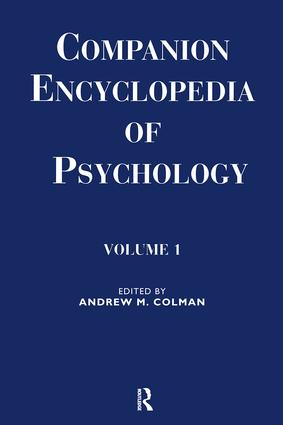 Companion Encyclopedia of Psychology: Volume One, 1st Edition (e-Book) book cover