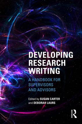 Developing Research Writing: A Handbook for Supervisors and Advisors, 1st Edition (Paperback) book cover