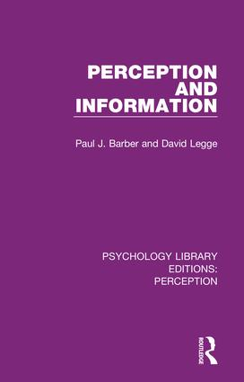 Psychology Library Editions: Perception: 35 Volume Set, 1st Edition (Hardback) book cover