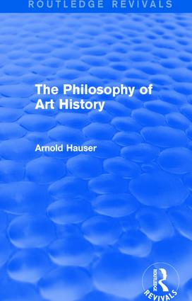 The Philosophy of Art History (Routledge Revivals) book cover