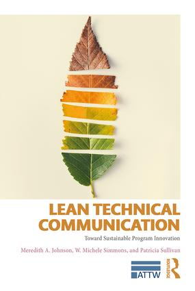 Lean Technical Communication: Toward Sustainable Program Innovation book cover