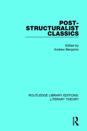 Post-Structuralist Classics book cover