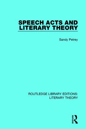 Speech Acts and Literary Theory book cover