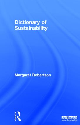 Dictionary of Sustainability book cover