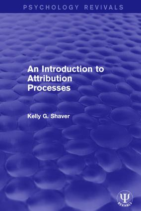 An Introduction to Attribution Processes: 1st Edition (Paperback) book cover