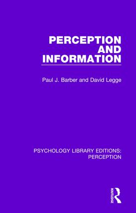 Perception and Information: 1st Edition (Paperback) book cover