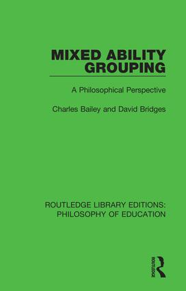 Mixed Ability Grouping: A Philosophical Perspective book cover