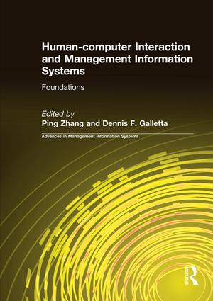 Human-computer Interaction and Management Information Systems: Foundations: Foundations, 1st Edition (Paperback) book cover