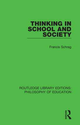 Thinking in School and Society book cover