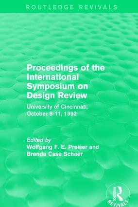 Proceedings of the International Symposium on Design Review (Routledge Revivals): University of Cincinnati, October 8-11, 1992 book cover