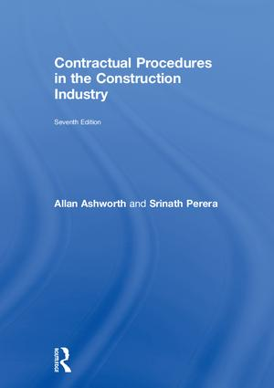 Contractual Procedures in the Construction Industry book cover