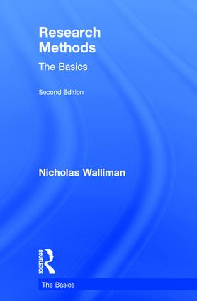 Research Methods: The Basics: 2nd edition book cover