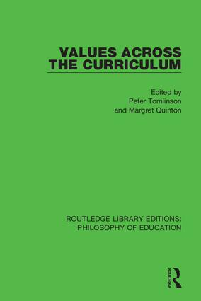 Values Across the Curriculum: 1st Edition (Hardback) book cover