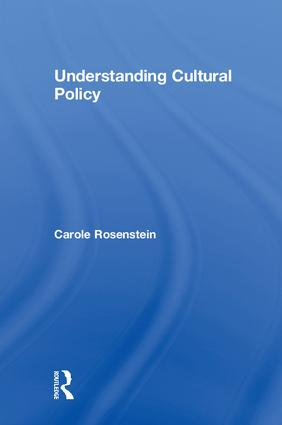 Understanding Cultural Policy book cover