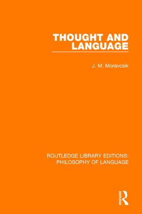 Thought and Language book cover