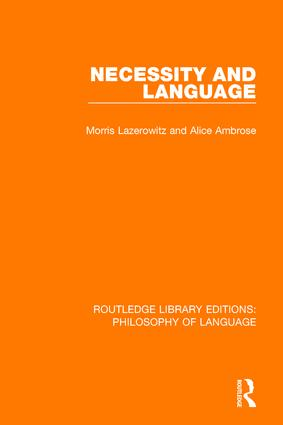 Necessity and Language book cover