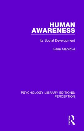 Human Awareness: Its Social Development, 1st Edition (Paperback) book cover