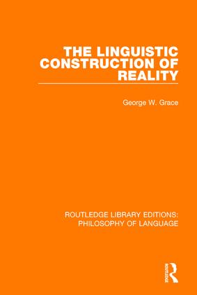 The Linguistic Construction of Reality: 1st Edition (Paperback) book cover