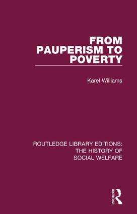 From Pauperism to Poverty book cover