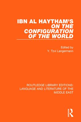 Ibn al-Haytham's On the Configuration of the World (Hardback) book cover