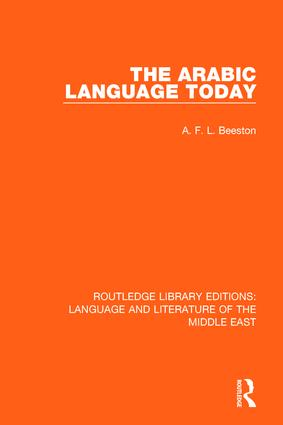 The Arabic Language Today: 1st Edition (Paperback) book cover