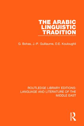 The Arabic Linguistic Tradition book cover