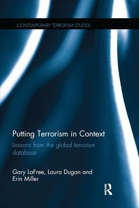 Putting Terrorism in Context: Lessons from the Global Terrorism Database book cover