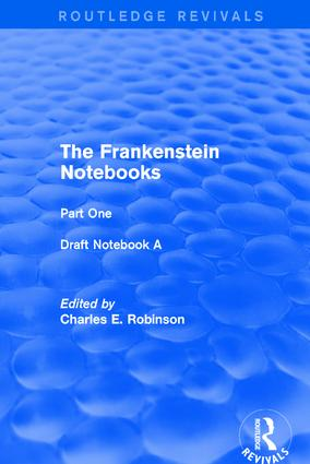 The Frankenstein Notebooks: Part One Draft Notebook A book cover
