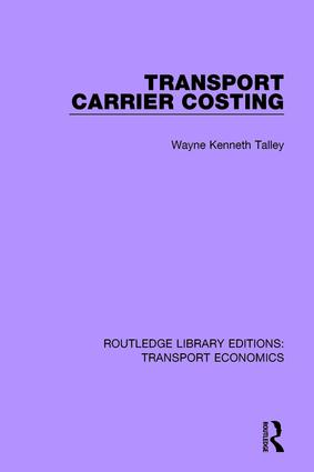 Transport Carrier Costing book cover