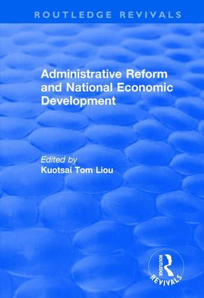 Administrative Reform and National Economic Development: 1st Edition (Hardback) book cover